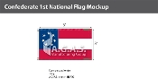 Confederate 1st National Flags 3x5 foot