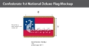 Confederate 1st National Deluxe Flags 5x8 foot