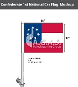 Confederate 1st National Car Flags 12x16 inch Economy