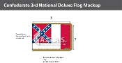 Confederate 3rd National Deluxe Flags 2x3 foot