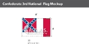 Confederate 3rd National Flags 4x6 foot