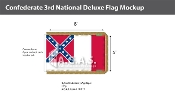 Confederate 3rd National Deluxe Flags 5x8 foot