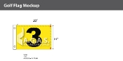 3rd Hole Golf Flags 14x20 inch (Yellow & Black)