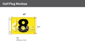 8th Hole Golf Flags 14x20 inch (Yellow & Black)