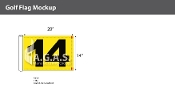 14th Hole Golf Flags 14x20 inch (Yellow & Black)