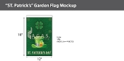 St. Patrick's Day Garden Flags 18x12 inch