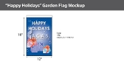 Happy Holidays Garden Flags 18x12 inch