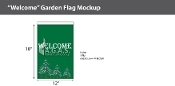 Welcome Garden Flags 18x12 inch