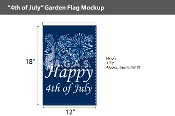 4th of July Garden Flags 18x12 inch
