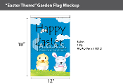 Easter Theme Garden Flags 18x12 inch