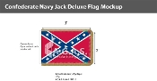 Confederate Navy Jack Deluxe Flags 2x3 foot