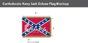 Confederate Navy Jack Deluxe Flags 4x6 foot