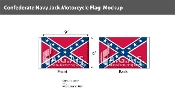 Confederate Navy Jack Motorcycle Flags 6x9 inch