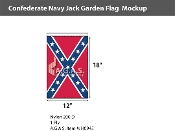 Confederate Navy Jack Garden Flags 18x12 inch