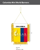 Colombia Mini Banners 4.75x3.5 inch