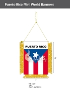 Puerto Rico Mini Banners 4.75x3.5 inch