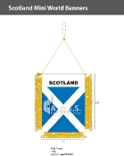 Scotland Mini Banners 4.75x3.5 inch