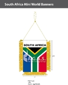 South Africa Mini Banners 4.75x3.5 inch