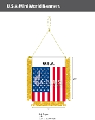 USA Mini Banners 4.75x3.5 inch