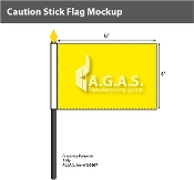 Caution Stick Flags 4x6 inch