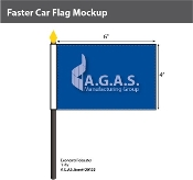 Faster Motorcycle Stick Flags 4x6 inch