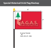 Continental Stick Flags 4x6 inch