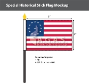 Cowpens Stick Flags 4x6 inch