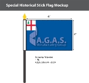 Bunker Hill Stick Flags 4x6 inch