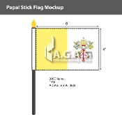 Papal Stick Flags 4x6 inch