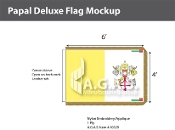 Papal Deluxe Flags 4x6 foot