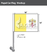 Papal Car Flags 12x16 inch Economy