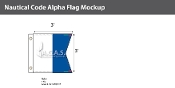 Alpha Deluxe Flags 3x3 foot