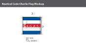 Charlie Deluxe Flags 2x2 foot