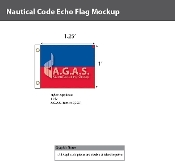 Echo Deluxe Flags 1x1.25 foot