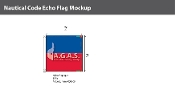 Echo Deluxe Flags 2x2 foot