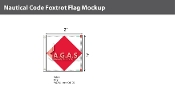 Foxtrot Deluxe Flags 2x2 foot