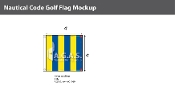 Golf Deluxe Flags 4x4 foot