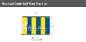Golf Deluxe Flags 4x6 foot