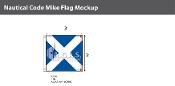 Mike Deluxe Flags 3x3 foot