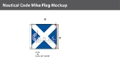 Mike Deluxe Flags 4x4 foot