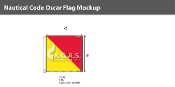 Oscar Deluxe Flags 4x4 foot