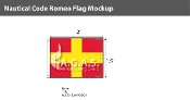 Romeo Deluxe Flags 1.5x2 foot