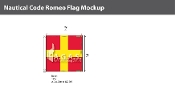 Romeo Deluxe Flags 2x2 foot