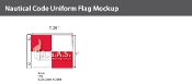 Uniform Deluxe Flags 1x1.25 foot