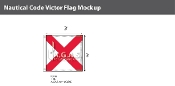 Victor Deluxe Flags 3x3 foot