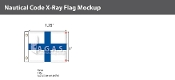 X-Ray Deluxe Flags 1x1.25 foot