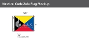 Zulu Deluxe Flags 1x1.25 foot