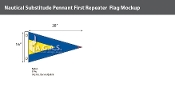 First Repeater Deluxe Flags 16x28 inch