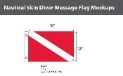 Skin Diver Deluxe Flags 12x18 inch