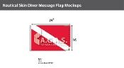 Skin Diver Deluxe Flags 16x24 inch